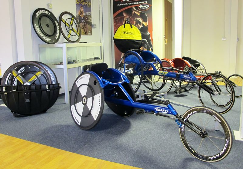 Draft Wheelchairs Racing Chairs in Showroom