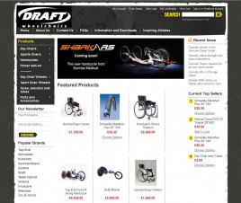Draft Wheelchair online shop home page